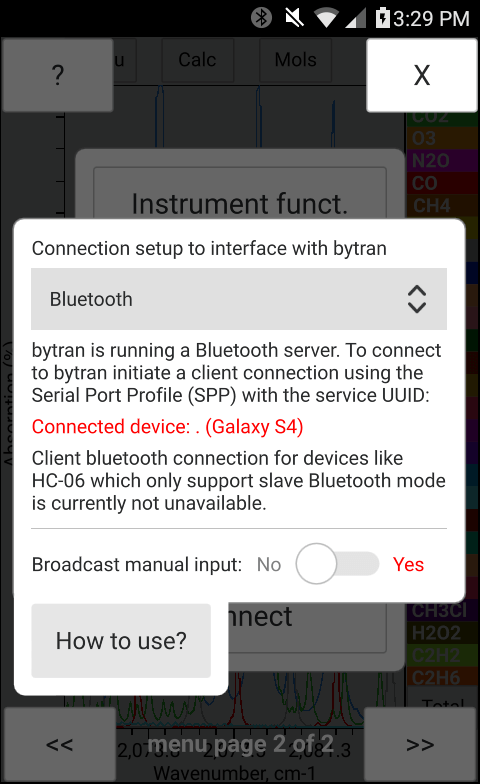 Bluetooth communication with bytran
