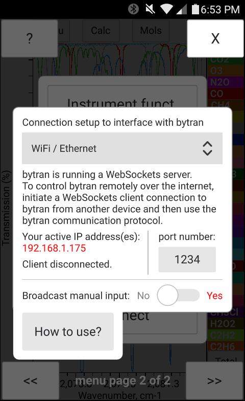 WebSockets communication with bytran over the Internet